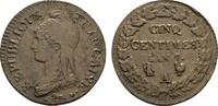 Ku.-5 Centimes L´an 7 (1798) A-Paris. FRANKREICH Directoire, 1795-1799.... 100,00 EUR