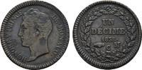 Ku.-1 Decime 1838 MC. MONACO Honoré V., 1819-1841. Vorzüglich -.  145,00 EUR