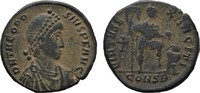 Æ-Follis Constantinopel. RÖMISCHE KAISERZEIT Theodosius I., 379-395. Br... 40,00 EUR