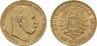 10 Mark 1875 C. Preussen Wilhelm I., 1861-1888. Übliche prägebedingte R... 480,00 EUR