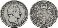 5 Lire 1827, P - Genua (Anker). ITALIEN Karl Felix, 1821-1831. Sehr sch... 75,00 EUR  +  7,00 EUR shipping