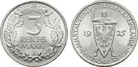 3 Reichsmark 1925, A. WEIMARER REPUBLIK  Fast Stempelglanz  62,00 EUR  +  7,00 EUR shipping