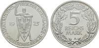 5 Reichsmark 1925, A. WEIMARER REPUBLIK  Stempelglanz, fein  180,00 EUR  +  7,00 EUR shipping