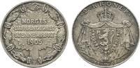 2 Kroner 1906. NORWEGEN Haakon VII., 1905-1958. Leichte feine Patina. S... 245.93 US$  +  7.83 US$ shipping