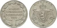 2 Kroner 1906. NORWEGEN Haakon VII., 1905-1958. Fast Stempelglanz  201.22 US$  +  7.83 US$ shipping