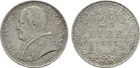 2 1/2 Lire 1867 R ITALIEN Pius IX., 1846-1878. Vorzüglich-stempelglanz  390,00 EUR  zzgl. 4,50 EUR Versand