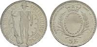 5 Franken 1934. SCHWEIZ Stadt. Fast Stempelglanz.  111.79 US$  +  7.83 US$ shipping