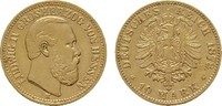 10 Mark 1878, H. Hessen Ludwig IV., 1877-1892. Sehr schön +  1088.50 US$  +  10.99 US$ shipping