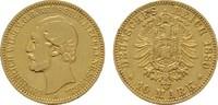 10 Mark 1880, A. Mecklenburg-Strelitz Friedrich Wilhelm, 1860-1904. Seh... 8831.23 US$  +  11.18 US$ shipping