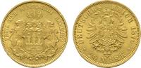 20 Mark 1876, J. Hamburg Freie und Hansestadt. Vorzüglich-stempelglanz.  659.55 US$  +  11.18 US$ shipping