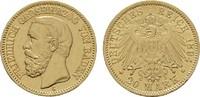 20 Mark 1894, G. Baden Friedrich I., 1852-1907. Fast Vorzüglich  420,00 EUR
