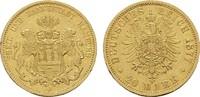 20 Mark 1877, J. Hamburg Freie und Hansestadt. Sehr schön - Vorzüglich  419.20 US$  +  7.83 US$ shipping