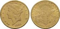 20 Dollars 1884, CC-Carson City. USA  Prägebedingte kleine Unebenheiten... 4300,00 EUR free shipping
