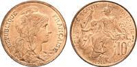 10 Centimes 1916. FRANKREICH 3. Republik, 1870-1940. Prägefrisch.  55,00 EUR