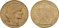 20 Francs - Jahr nach unserer Wahl. Marianne . FRANKREICH 3. Republik, ... 222,23 EUR