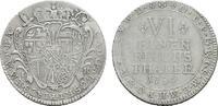 1/6 Taler 1754. KÖLN Klemens August von Bayern, 1723-1761. Sehr schön  85,00 EUR  +  7,00 EUR shipping