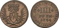 4 Pfennig 1754. MÜNSTER Clemens August von Bayern, 1719-1761. Fast Vorz... 30,00 EUR  +  7,00 EUR shipping