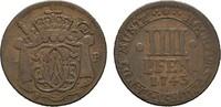 4 Pfennig 1743. MÜNSTER Clemens August von Bayern, 1719-1761. Sehr schö... 25,00 EUR  +  7,00 EUR shipping