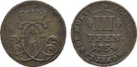 3 Pfennig 1754. MÜNSTER Clemens August von Bayern, 1719-1761. Sehr schö... 30,00 EUR  +  7,00 EUR shipping