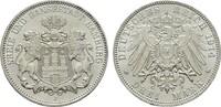 3 Mark 1914. Hamburg Freie und Hansestadt. Stempelglanz  78.25 US$  +  7.83 US$ shipping