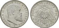 3 Mark 1914. Württemberg Wilhelm II., 1891-1918. Stempelglanz  89.43 US$  +  7.83 US$ shipping