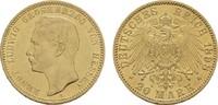 20 Mark 1898 A Hessen Ernst Ludwig, 1892-1918. Sehr schön-vorzüglich  614.83 US$  +  11.18 US$ shipping