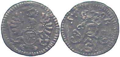 Friedrich Wilhelm Ii 1786-1797 Brandenburg-preußen Pfennig 1794 S