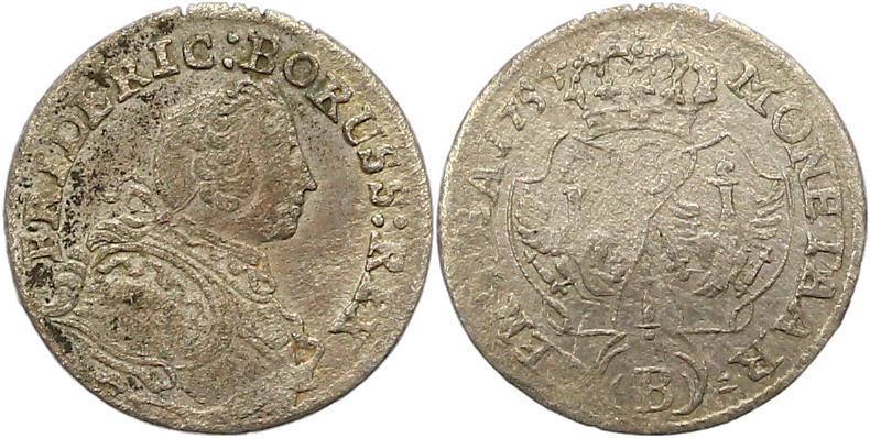 Friedrich Ii 1740-1786 Brandenburg-preußen 3 Kreuzer 1754 B