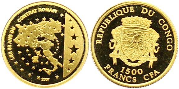 Kongo-republik 1500 Francs Gold 2007