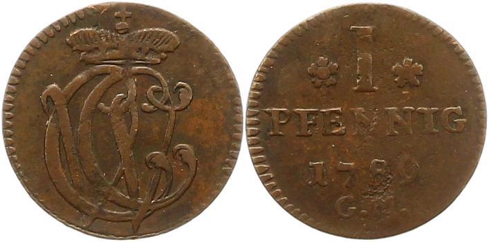 Clemens Wenzel von Sachsen 1768-1794 Trier-erzbistum Pfennig 1789