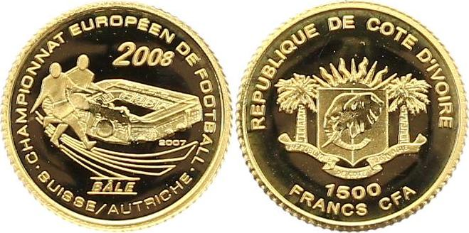 Elfenbeinküste 1500 Francs Gold 2007