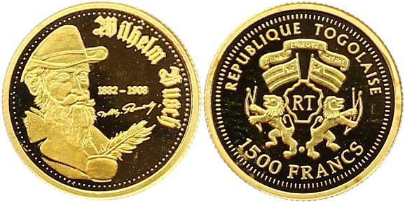 Republik Togo 1500 Francs Gold 2007