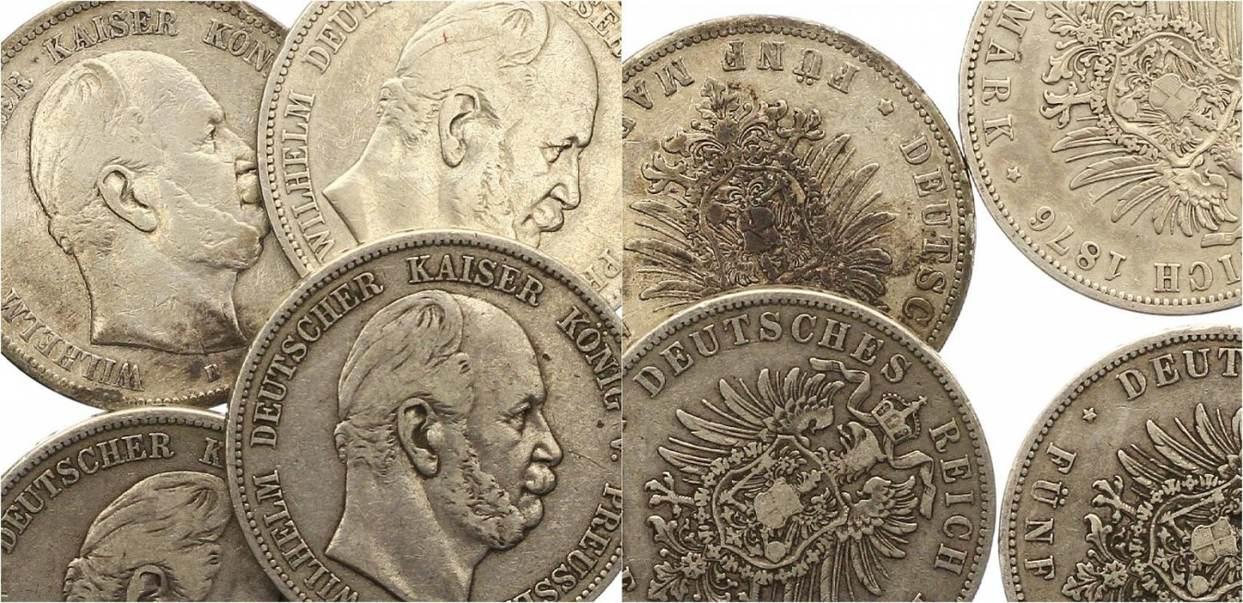 Wilhelm I 1861-1888 Preußen 5 Mark 1874
