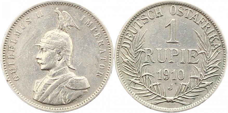 Deutsch Ostafrika Rupie 1910 J