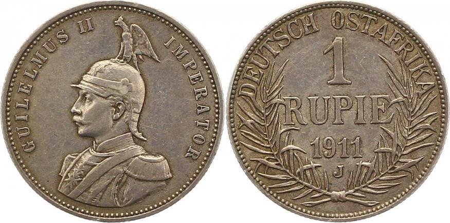 Deutsch Ostafrika Rupie 1911 J