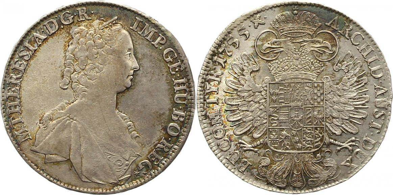 Maria Theresia 1740-1780 Haus Habsburg Taler 1755