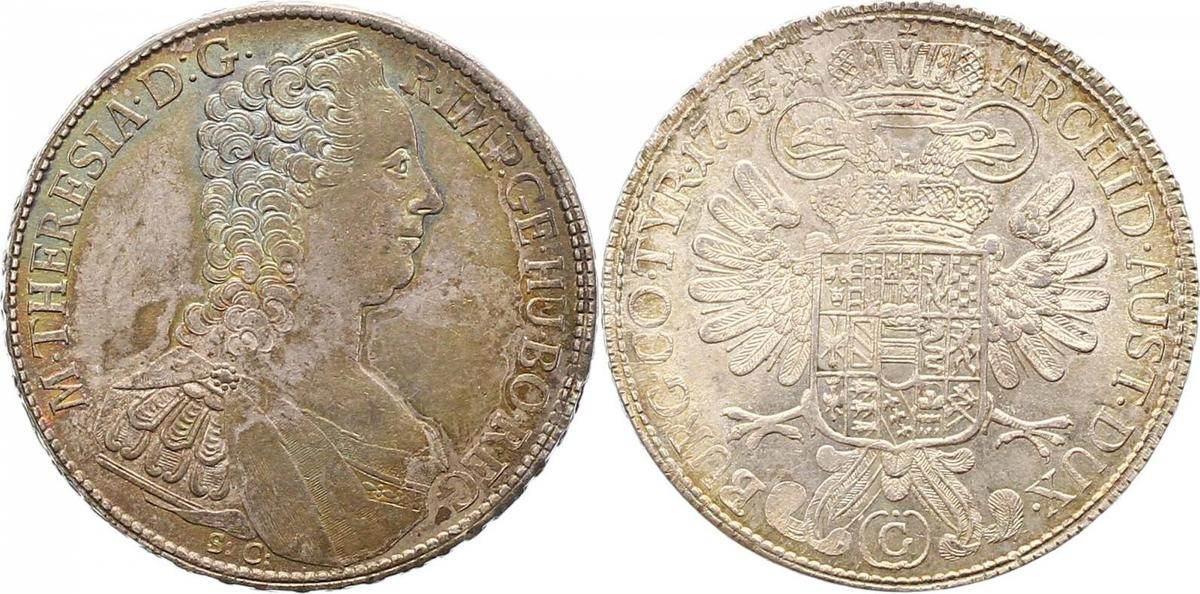 Maria Theresia 1740-1780 Haus Habsburg Taler 1765 G