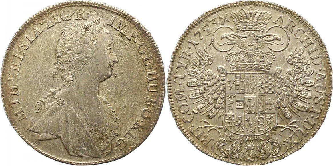 Maria Theresia 1740-1780 Haus Habsburg Taler 1753