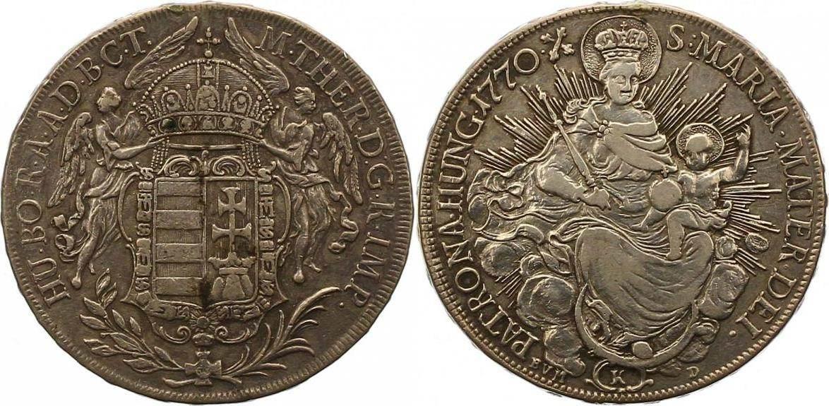 Maria Theresia 1740-1780 Haus Habsburg Taler 1770 K