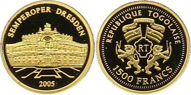 Republik Togo 1500 Francs Gold 2005