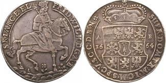 Taler 1664 Brandenburg-Preußen Friedrich W...