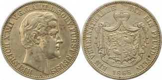 Taler 1868  A Reuss-ältere Linie Heinrich ...