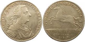 Taler 1765 Braunschweig-Wolfenbüttel Karl ...