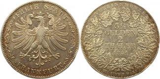 Doppeltaler 1841 Frankfurt-Stadt  Winz. Ra...