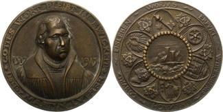 Bronzegussmedaille 1917 Reformation 400-Ja...