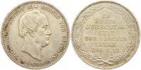 Sachsen-Albertinische Linie 1/6 Sterbetaler Friedrich August II. 1836-1854.