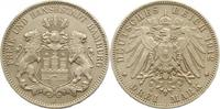 3 Mark 1912  J Hamburg  Matt. Sehr schön  22,00 EUR