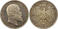 3 Mark 1913  F Württemberg Wilhelm II. 1891-1918. Fast vorzüglich  20,00 EUR