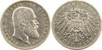 5 Mark 1893  F Württemberg Wilhelm II. 1891-1918. Knapp sehr schön  42,00 EUR