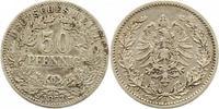 50 Pfennig 1877  B Kleinmünzen  Sehr schön  20,00 EUR